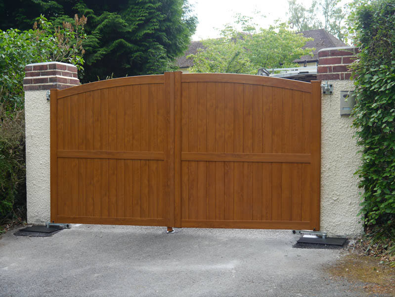 Exterior wooden doors for home - Westcountry Gates Wood Effect Gates Amp Pvc Gates In Devon