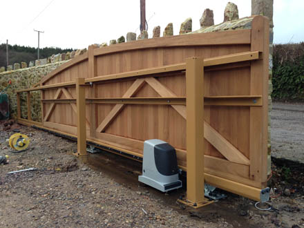 Westcountry Gates Automatic Electric Sliding Gates In